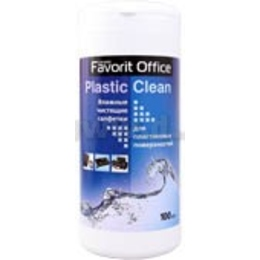 "Влажные салфетки Favorit Office ""Plastic Clean"" (для пластика,туба100 шт)"