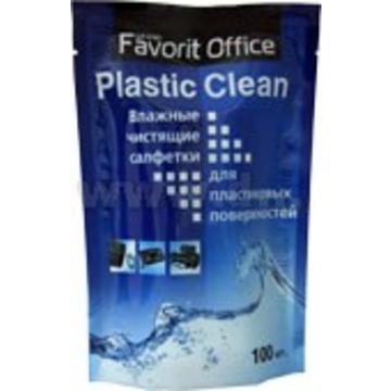 """Влажные салфетки Favorit Office Зап. Блок """"Plastic Clean"""" (для пластика,100 шт)"""