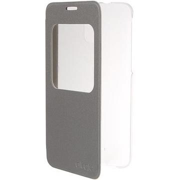 Чехол Alcatel Flip Case FC5056 Silver (для Alcatel POP 4 Plus OT5056)