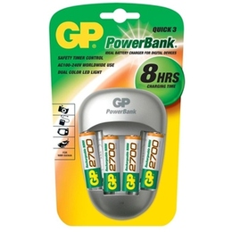 Зарядное устройство GP PB27GS270-C4 (сетевое, в комплекте 4xAA 2700 мАч, заряд 8 часов)