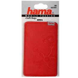 Чехол Hama Soft Bag Red (для моб. телефонов, 1.3x11.5x6 см, плотная микрофибра)
