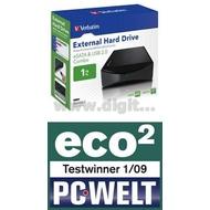 "Внешний жесткий диск 1 TB Verbatim Combo Drive Black (3.5"""", USB2.0, eSATA, 47526)"