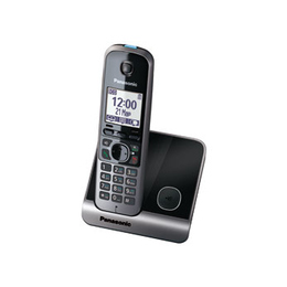 Panasonic KX-TG6711RUB Black (голосовой АОН, Caller ID, спикерфон, радионяня)