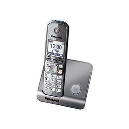 Panasonic KX-TG6711RUM Metallic Grey (голосовой АОН, Caller ID, спикерфон, радионяня)