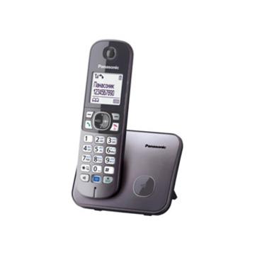 Panasonic KX-TG6811RUM Metallic Grey (голосовой АОН, Caller ID, спикерфон, радионяня)