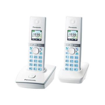 Panasonic KX-TG8052RUW White (цветной дисплей, голосовой АОН, ночной режим, 2 трубки)