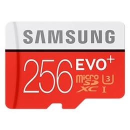 MicroSDXC 256Гб Samsung EVO Plus Класс 10 UHS-I (адаптер)
