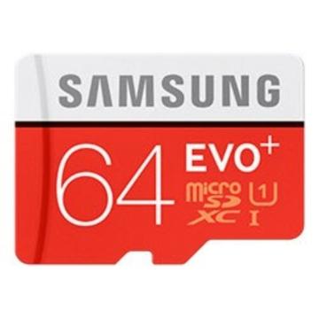 MicroSDXC 64Гб Samsung EVO Plus Класс 10 UHS-I (адаптер)