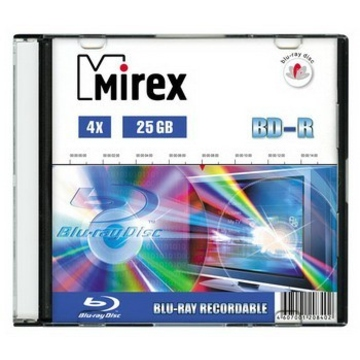 Blu-Ray BD-R Mirex (25GB, 4x, Slim Case)