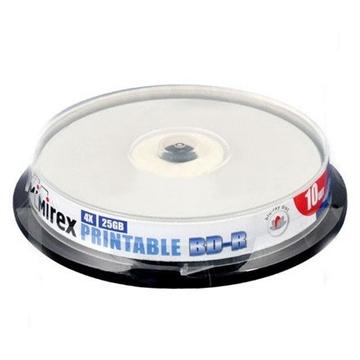 Blu-Ray BD-R Mirex Cake Box 10шт (25GB, 4x, Ink Printable)