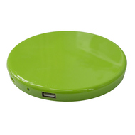 Солнечная зарядка Present Solar Circle Green (USB, 1800 mAh, 1A, зарядка от солнца, крепление на стекло, круглая)