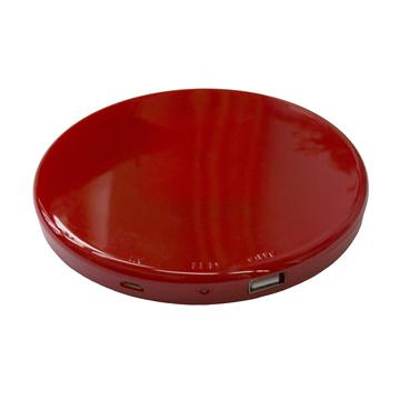 Солнечная зарядка Present Solar Circle Red (USB, 1800 mAh, 1A, зарядка от солнца, крепление на стекло, круглая)