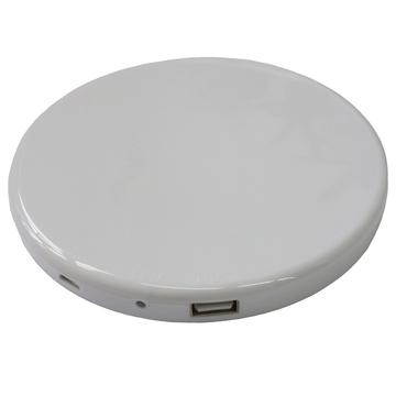 Солнечная зарядка Present Solar Circle White (USB, 1800 mAh, 1A, зарядка от солнца, крепление на стекло, круглая)