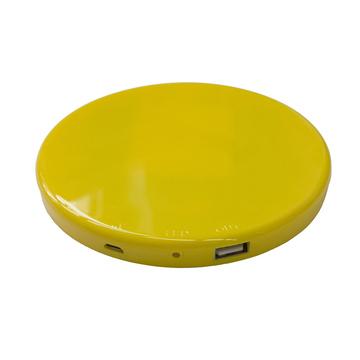 Солнечная зарядка Present Solar Circle Yellow (USB, 1800 mAh, 1A, зарядка от солнца, крепление на стекло, круглая)