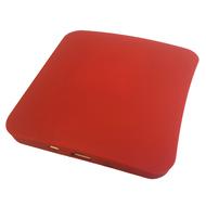 Солнечная зарядка Present Solar Square Red (USB, 1800 mAh, 1A, зарядка от солнца, крепление на стекло, квадратная)