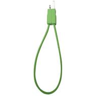 Кабель PQI i-Cable Flat 20 Green (USB-Lightning, 20см., плоский, с замком)