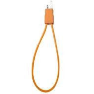 Кабель PQI i-Cable Flat 20 Orange (USB-Lightning, 20см., плоский, с замком)