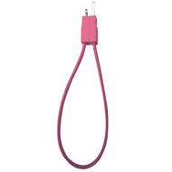 Кабель PQI i-Cable Flat 20 Pink (USB-Lightning, 20см., плоский, с замком)