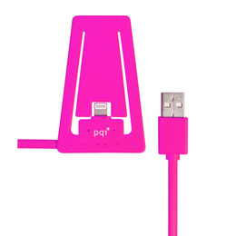 Докстанция PQI i-Cable Stand with Lightning Pink