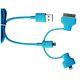 Кабель PQI i-Cable Multi-Plug Blue (USB-microUSB/Lightning/30pin, 90см.)