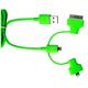 Кабель PQI i-Cable Multi-Plug Green (USB-microUSB/Lightning/30pin, 90см.)