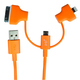 Кабель PQI i-Cable Multi-Plug Orange (USB-microUSB/Lightning/30pin, 90см.)