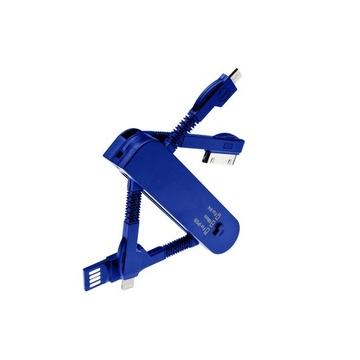 Кабель Present 3 in 1 Blue (USB/MicroUSB/Lightning)