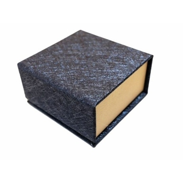 Коробка Present Paper FB1105 Blue Gold (картон, на магните, 65х63х35мм)