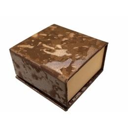 Коробка Present Paper FB1105 Dark Coffee Gold (картон, на магните, 65х63х35мм)