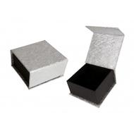 Коробка Present Paper FB1105 Silver Black (картон, на магните, 65х63х35мм)