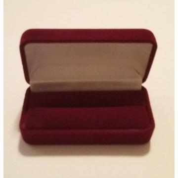 Коробка Present Velvet FU-55 Bordo (бархатная, картон/ткань, 77х39х28мм)