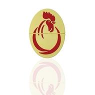 Индивидуальная флешка яйцо с изображением петуха 16 gb