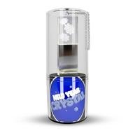 Оригинальная подарочная флешка Present G100 32GB Snow Blue LED (стекло/металл, синий светодиод, в блистере)