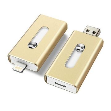 Накопитель USB2.0 Present i-Flash Dual F1 2 Гб Gold