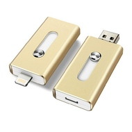 Накопитель USB2.0 Present i-Flash Dual F1 32GB Gold