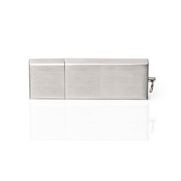 Накопитель под нанесение Present M35 8 GB Silver Glossy