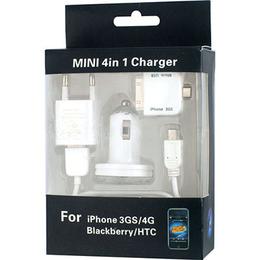 Зарядное устройство Present Mini 4in1 Charger (АЗУ/сетевое, 30pin/miniUSB/microUSB)