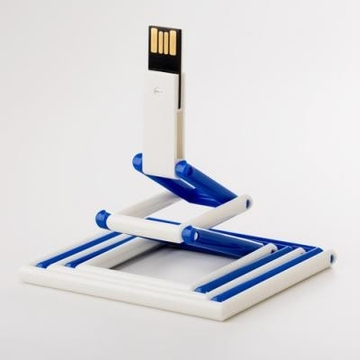 Накопитель под нанесение Present P103 16 gb Blue White