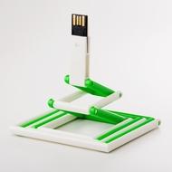Накопитель под нанесение Present P103 8 GB Green White