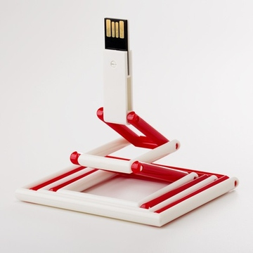 Накопитель под нанесение Present P103 8 GB Red White
