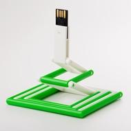 Накопитель под нанесение Present P103 8 GB White Green