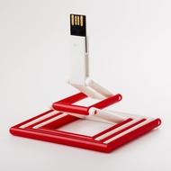 Накопитель под нанесение Present P103 8 GB White Red