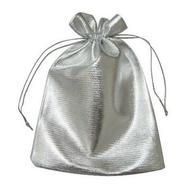 Мешочек из парчи Present MM3 (серебристый, 9х12 см)