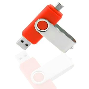Накопитель под нанесение Present SM-OTG 16 gb Red