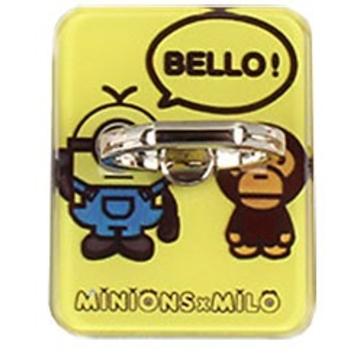 Крепление-кольцо Present U-020 Yellow (миньон с обезьянкой, металл, пластик)