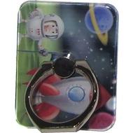 Крепление-кольцо Present U-027 Red Blue (космонавт и ракета, металл, пластик)