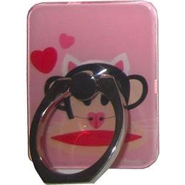 Крепление-кольцо Present U-032 Pink (обезьянка с сердечками, металл, пластик)