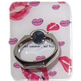Крепление-кольцо Present U-033 Pink (поцелуи, металл, пластик)