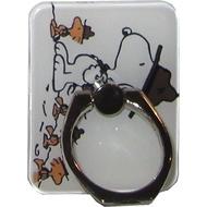 Крепление-кольцо Present U-035 Black White (Снупи в шляпе, металл, пластик)
