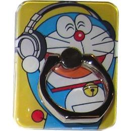 Крепление-кольцо Present U-044 Blue Yellow (кот-робот Дораэмон в наушниках, металл, пластик)